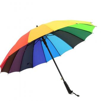 Fashion Waterproof Rainbow Umbrella
